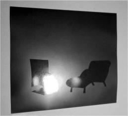 Primera conversación, 2000 - Papel fotográfico velado, procesado - Barniz - 20 x 25 cm