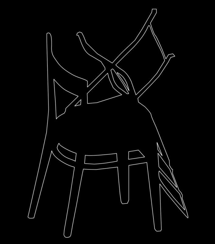 Outline 25b, 2006 - Dibujo - Impresión de contacto - Plata en gelatina - 35 x 27 cm