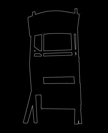 Outline 03a, 2006 - Dibujo - Impresión de contacto - Plata en gelatina - 35 x 27 cm