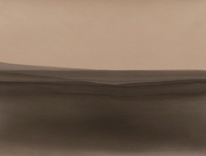 Inmersión N° 1, 2015/2016 - Papel fotográfico velado, parcialmente revelado y estabilizado - 13 x 19 cm