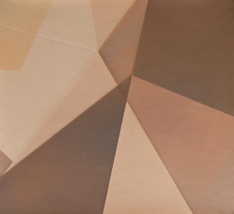 Repliegue I, 2015/2016 - Papel fotográfico plegado, velado y estabilizado - Plata en gelatina - 21,4 x 23,2 cm