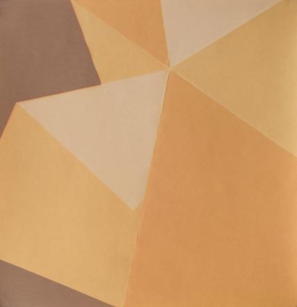 Repliegue IX, 2015/2016 - Papel fotográfico plegado, velado y estabilizado - Plata en gelatina - 18 x 17,5 cm