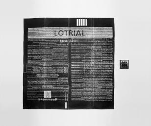 Remedio para el corazón, 1995 - Objeto proyectado - Plata en gelatina - 200 x 240 cm