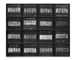 City tour I, 1995 - Objeto proyectado - Plata en gelatina - 100 x 120 cm