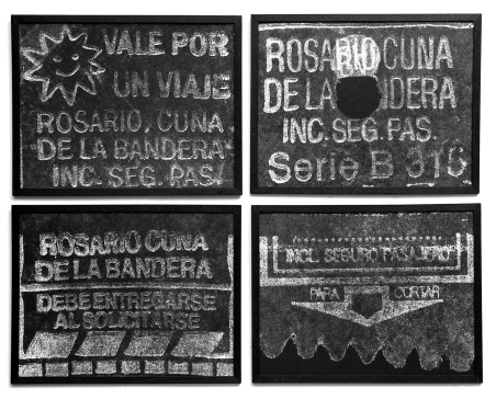 City tour II, 1995 -Objeto Proyectado - Plata en gelatina - 4 piezas, 50 x 50 cm c/u