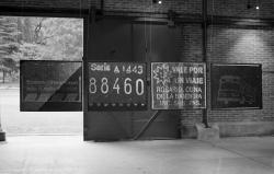 City tour, 1995 - Objeto Proyectado - Plata en gelatina - 4 piezas, 50 x 60 cm c/u - Instalació en el Centro de Expresiones Contemporáneas, Rosario