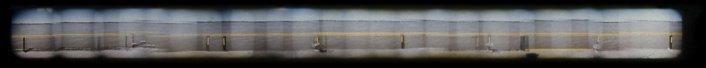 Muelle, 1997 - Impresión de contacto - Fotografía color - 8 x 80 cm