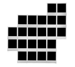 22 vistas de la casa de noche, 1998 - Polaroid - 22 piezas, 11 x 9 cm c/u