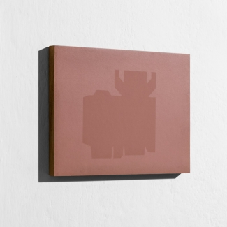Blue Boxes, 2000 - papel fotográfico sin procesar - Barniz - 18 x 24 cm - Documentación 2018