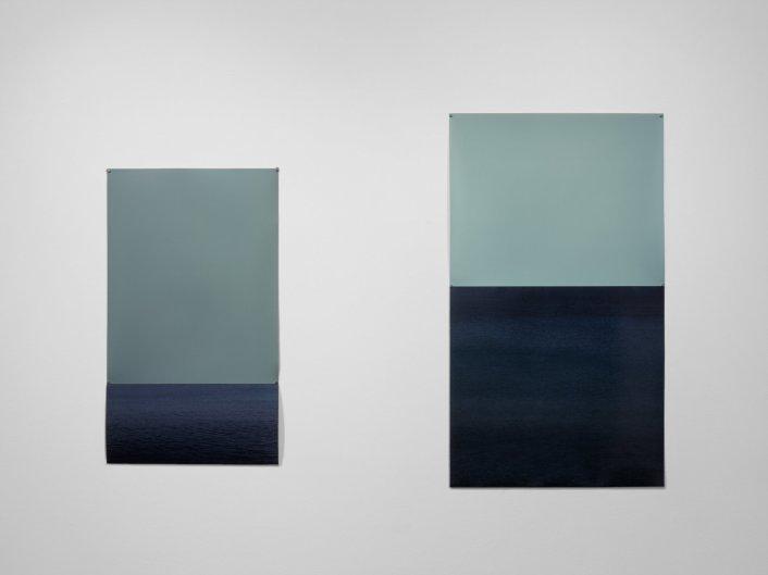 Marina I y II, 2017 - Papel fotográfico velado, sin procesar y fotografía color - 70 x 40 cm y 86,5 x 50 cm