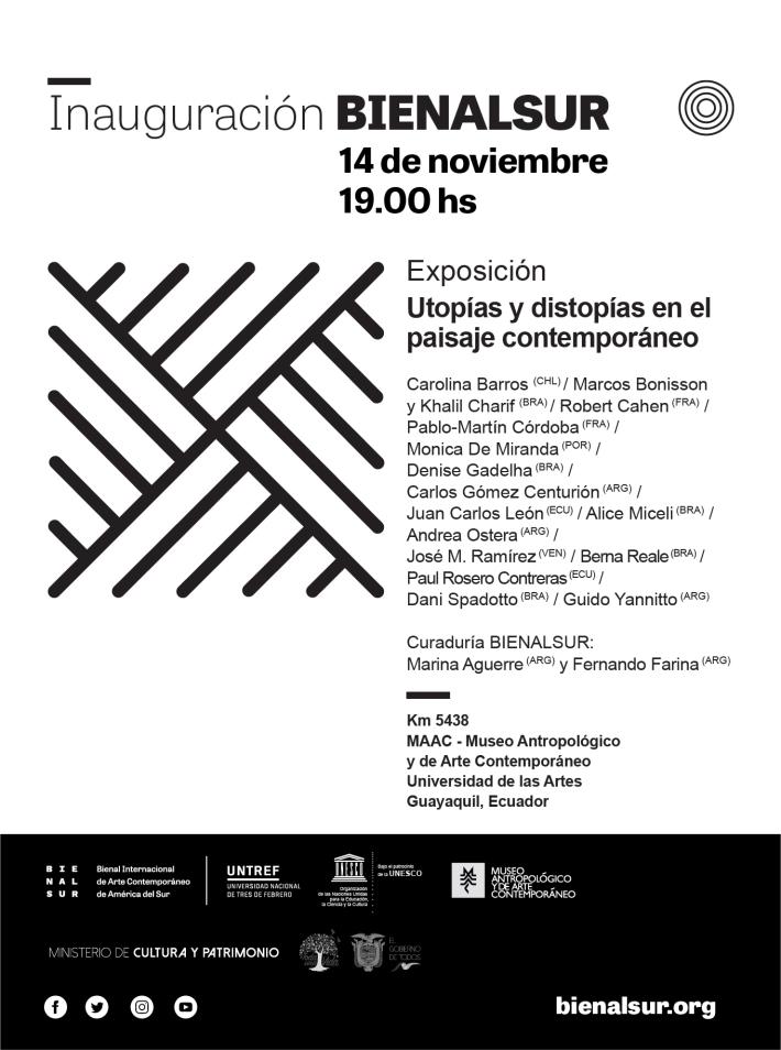 Invitacion_BIENALSUR_MAAC guayaquil_utopias y distopias